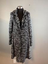 Free People Womens Last Dance Duster Cardigan Sweater Coat M Medium Blac... - $92.80