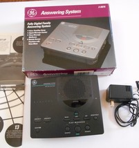 GE 2-9876 Fully Digital Family Answering System With Manual Black Vintage - $16.99