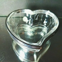 "1 (One) LENOX Heart Trinket Dish Crystal with Silverplated Trim  3.5""  S... - $14.24"