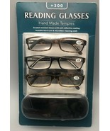 Icon Eyewear Reading Glasses Hand Made Temples +3.00 Strength NEW Sealed... - $12.13