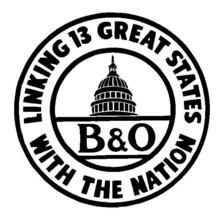 B & O Baltimore & Ohio Railroad Sticker R4908 Railway Train Sign YOU CHOOSE SIZE - $1.45+