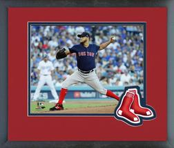 Eduardo Rodriguez Game 4 of the 2018 World Series-11x14 Logo Matted/Framed Photo - $42.95