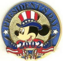 Patriotic Mickey Mouse Uncle Sam hat President Day Red White blue Pin/Pins - $24.99