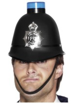 Police Helmet  Flashing Siren Light.  One Size - £9.38 GBP