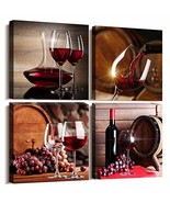 Kitchen Wall Art for dining room Wall Decor Still life wine Fruit goblet... - $37.40