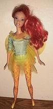 MATTEL 2000's Fairy Doll orange hair with painted design legs  - $12.87