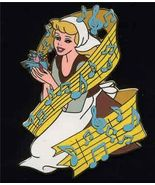 Disney Auction (P.I.N.S.)  Cinderella Singing Musical note LE 500 pin/pins - $78.37