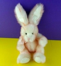 Russ Berrie Plush Pink Bunny Ruffles Stuffed Animal Rabbit Sparkles Shin... - $26.72