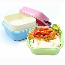 Microwave Safe Children Bento Lunch Box Food Storage PP Plastic Double L... - $14.64