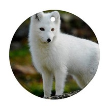 Cute White Arctic Fox Animal Ornament (Round) D... - $4.47