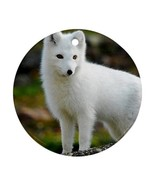Cute White Arctic Fox Animal Ornament (Round) Decoration Christmas - $4.47