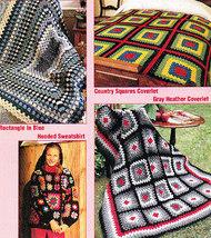 ** 70 * Original Granny Squares Projects Antique Look  - $4.49