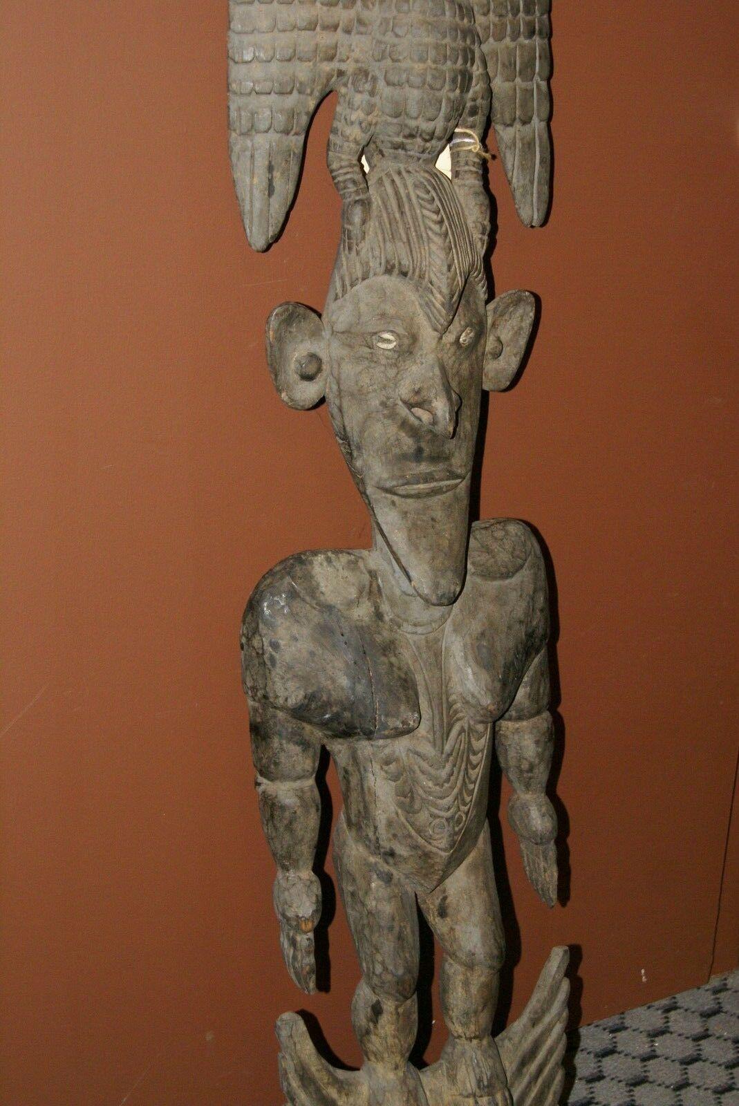 Papua New Guinea Unique 4FT Suspension Hook Hand Carved Iatmul Tribe Sepik 30A7