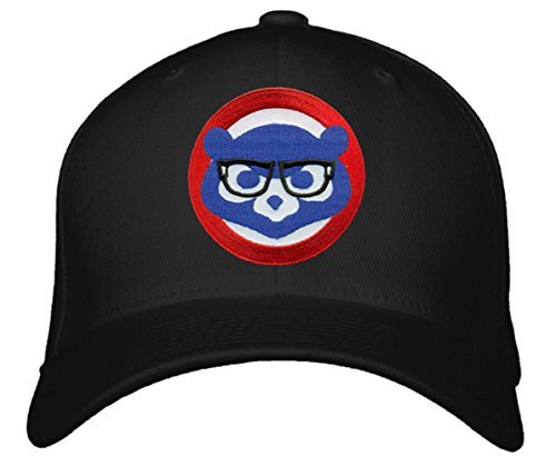 Chicago Cubs Hat With Comical Joe Maddon Harry Caray Glasses - Black Adjustable