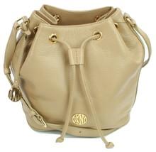 DKNY Donna Karan Bucket Cross Body Bag Dune Beige Leather Medium Handbag... - $277.78