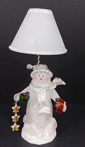 """Acrylic Snowman Figurine With Presents - Color Changing Lights - 11"""" Tall - $28.04"""