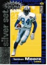 1995 Upper Deck Herman Moore Football Trading Card Silver Set Crash The ... - $1.97