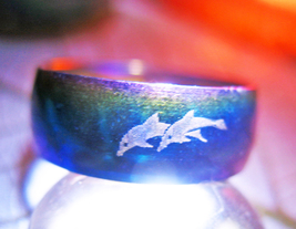 Haunted RING 3X MYSTICAL LOVE TRUE LOVE MAGICK 925 DOLPHINS WITCH CASSIA4 - $30.00
