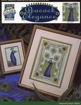 Peacock Elegance True Colors Cross Stitch Pattern Leaflet 2 Designs NEW - $1.77