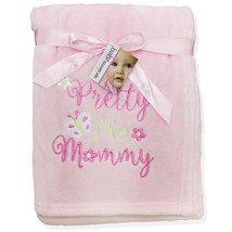 Baby Essentials Baby Essentials Infant Girl's Plush Blanket - Pretty Like Mommy image 2