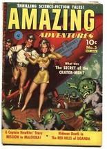 AMAZING ADVENTURES #5-LEONARD STARR-SCI-FI-GOLDEN-AGE-1951 RARE - $195.46