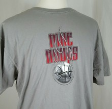 NIKE HOOPS Graphic T-Shirt Gray Adult XL 100% Cotton Basketball 2 Sided - $12.99