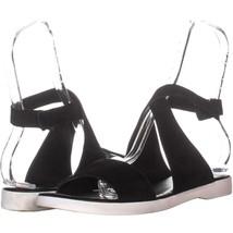 Via Spiga Jordan Ankle Strap Sport Sandals 446, Black Suede, 9.5 US / 39... - $31.67