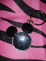 Disney Parks Mickey Mouse Black Face Metal Keychain - $5.93