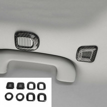 Roof Lamp Speaker Ring Cover Trim Carbon Fiber Fit For Jeep Cherokee 201... - $37.17