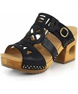 Dansko Womens Oralee Sandal Black Waxy Full Grain - $90.00
