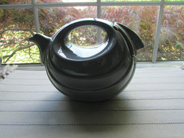 VTG HALL 1400 RHYTHM TEAPOT GREY HARD TO FIND LID REPAIRED 6 CUP   USA  - $23.76