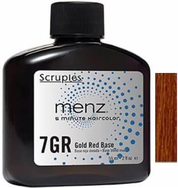 Scruples Menz 5 Minute Haircolor - 7GR Golden Red Gold Red Base  2oz