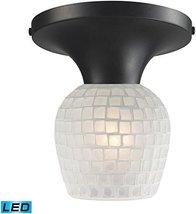 Elk Lighting 10152/1DR-WHT-LED Celina 1-Light Dark Rust and White Glass-... - $124.00