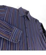 Boss Hugo Boss Blue Striped L/S Dress Shirt Sz 15 1/2 42 - $29.99