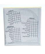 Clue Discover the Secrets 38 Double Sided Score Pad Sheets Replacement G... - $12.99