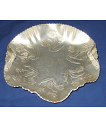 Vintage Aluminum Handled Scalloped Candy Nut Dish - $13.99