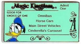 Disney Donald Duck Magic Kingdom A ticket  Pin/Pins - $14.50