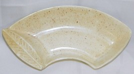 California Pottery Snack Dish Curved Serving Tray #L44 MCM Made in USA - $19.77