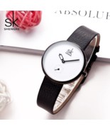 SK® Leather Women's Watches Creative Casual Water Resistant Quartz Watch - $25.21+
