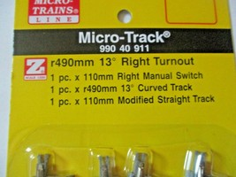 Micro-Trains Micro-Track # 99040911 Turnout Right Hand R490mm 13 Degree Z-Scale image 2
