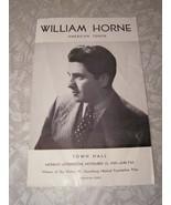 William Horne American Tenor Program Town Hall November 13, 1939 - $19.99