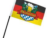 """Oktoberfest German Germany 4""""x6"""" Flag Desk Table Set Plastic Stick Staff"""