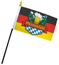 """Oktoberfest German Germany 4""""x6"""" Flag Desk Table Set Plastic Stick Staff - $5.44"""