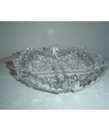 American Brilliant Cut Glass Dish Footed - $193.85 CAD