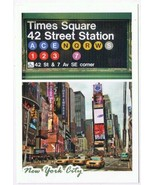 New York Postcard NYC Times Square 42nd Street Subway Station - $3.79