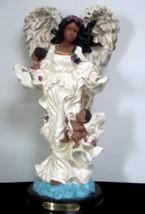 Large Ebony Treasures Angel Figurine - $9.89