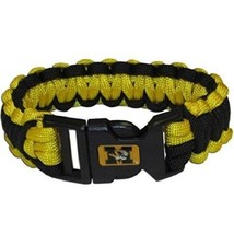 "NCAA Missouri Tigers Survival Bracelet Paracord 9"" Outdoor Survivor Yellow - $7.87"