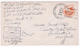 WORLD WAR II EXAMINED MAIL APO 403 NOVEMBER 17 1944  - $2.98