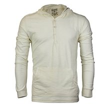 Royal Knights Men's Lightweight Slim Fit Pullover Henley Shirt Hoodie (Large, 04