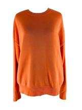 Forever 21 Women's Neon Orange Crew Neck Pullover Sweatshirt Size Medium - $14.85